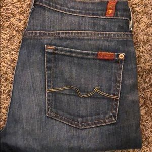 Women's 7 for all mankind skinny jeans Sz 29